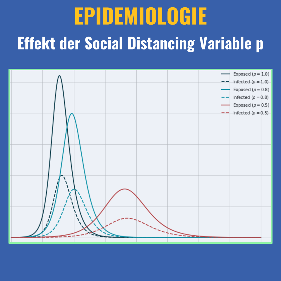 Effekt der Social DIstancing VAriable p